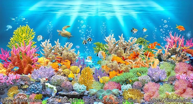 Tranh 3d đại dương cảnh biển 115