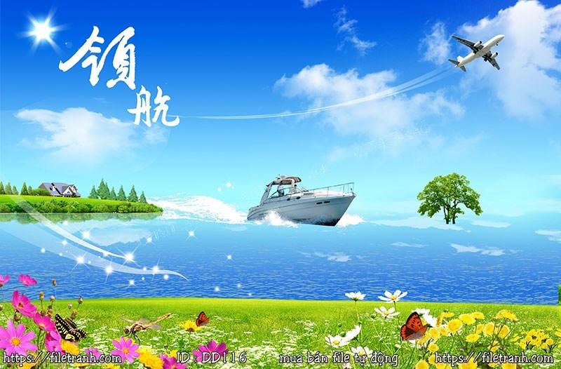 Tranh 3d đại dương cảnh biển 116