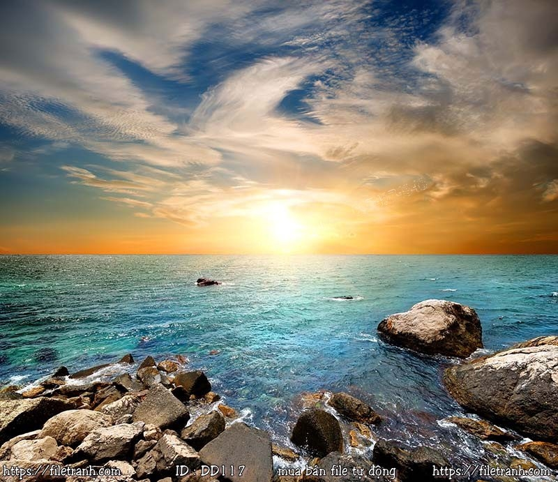 Tranh 3d đại dương cảnh biển 117