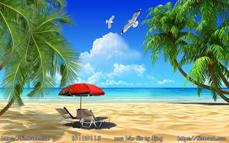 Tranh 3d đại dương cảnh biển 118