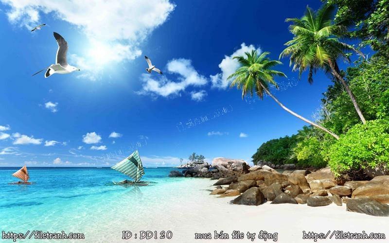Tranh 3d đại dương cảnh biển 120