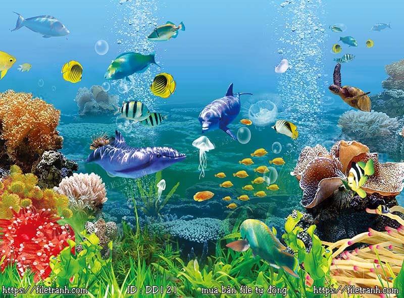 Tranh 3d đại dương cảnh biển 121