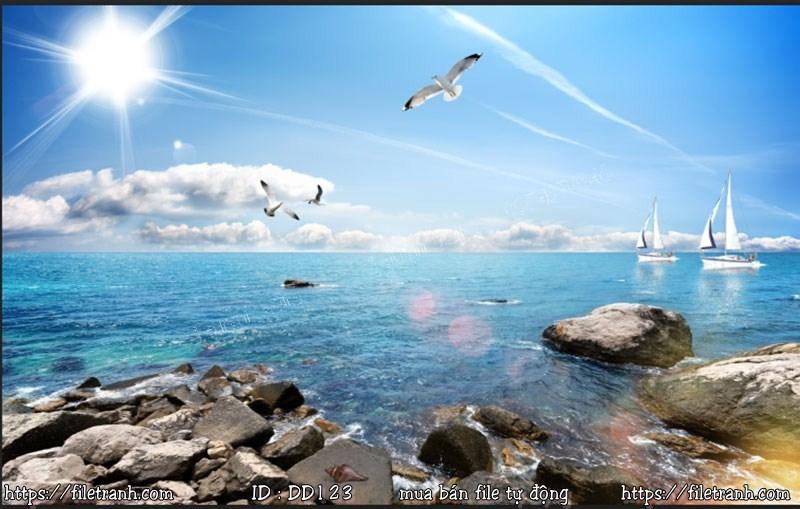 Tranh 3d đại dương cảnh biển 123