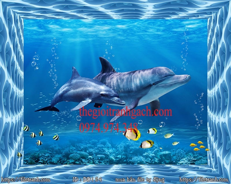Tranh 3d đại dương cảnh biển 124