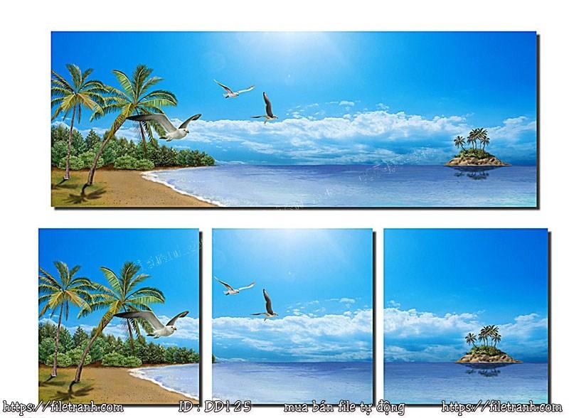 Tranh 3d đại dương cảnh biển 125