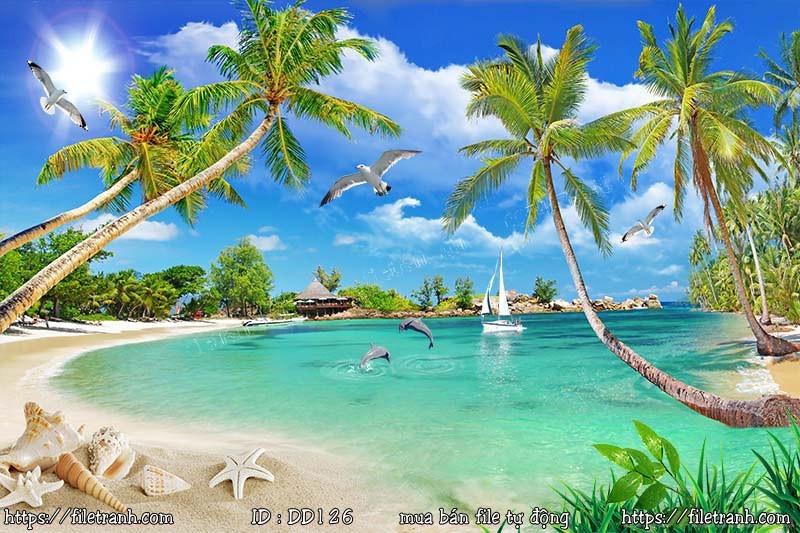 Tranh 3d đại dương cảnh biển 126