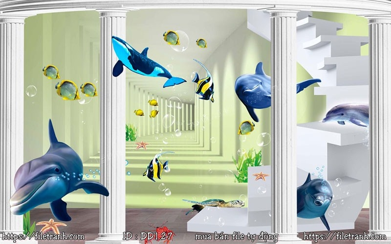 Tranh 3d đại dương cảnh biển 127