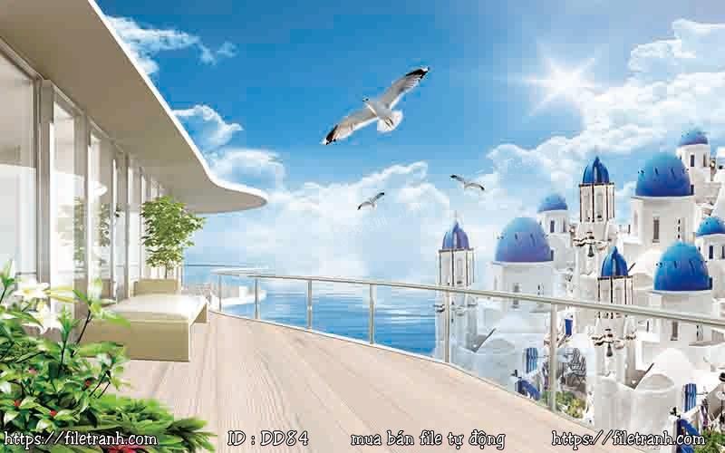 Tranh 3d đại dương cảnh biển 84