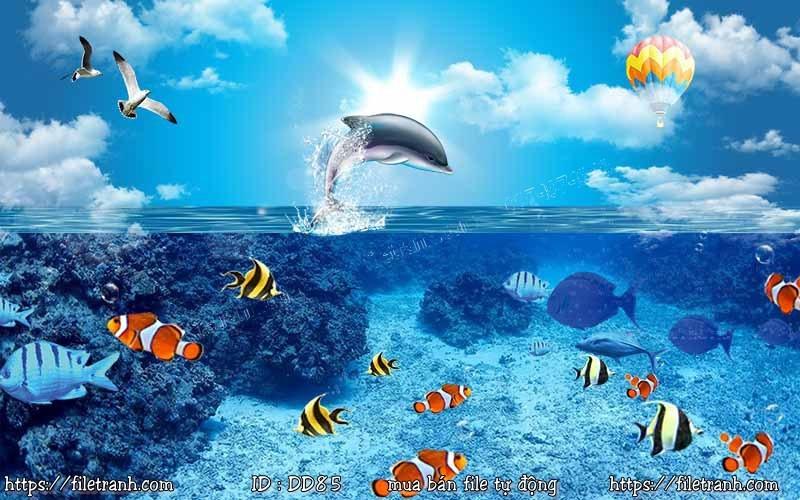 Tranh 3d đại dương cảnh biển 85