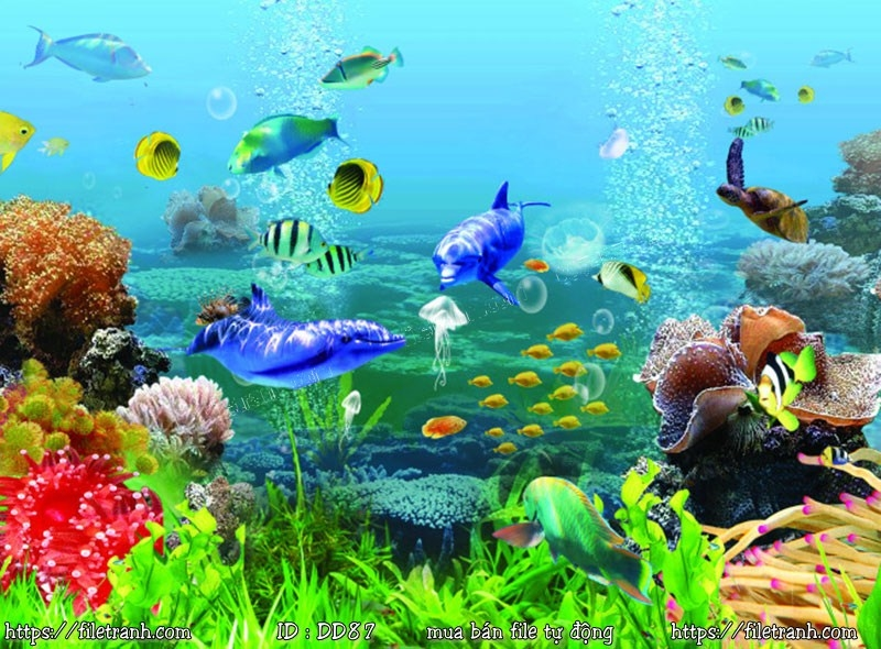 Tranh 3d đại dương cảnh biển 87