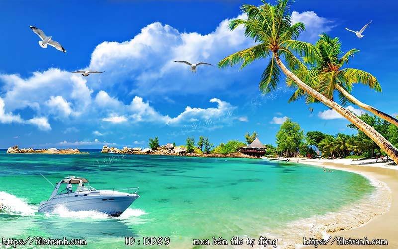 Tranh 3d đại dương cảnh biển 89