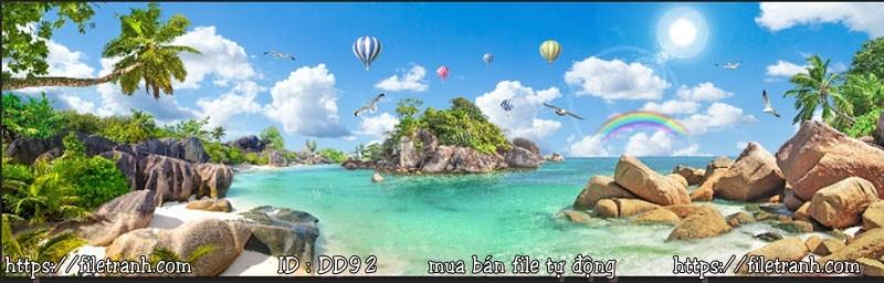 Tranh 3d đại dương cảnh biển 92