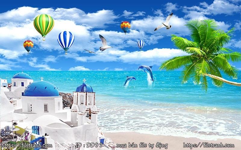 Tranh 3d đại dương cảnh biển 93