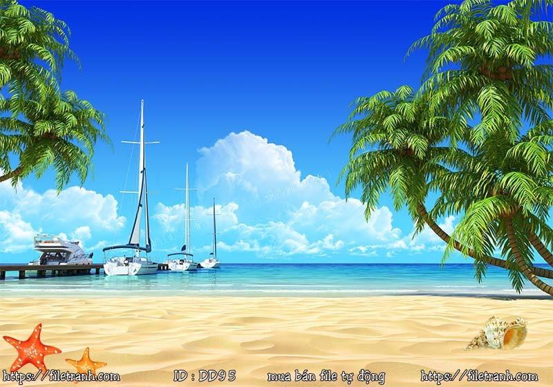 Tranh 3d đại dương cảnh biển 95