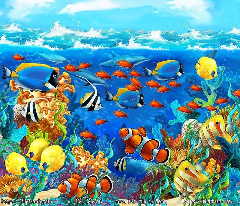 Tranh 3d đại dương cảnh biển 96