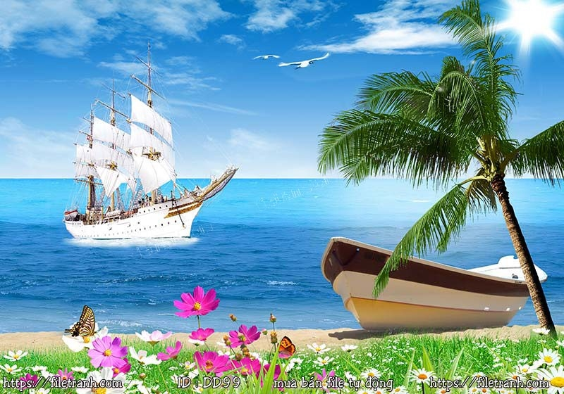 Tranh 3d đại dương cảnh biển 99