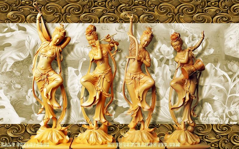 Tranh gạch 3D điêu khắc DK57