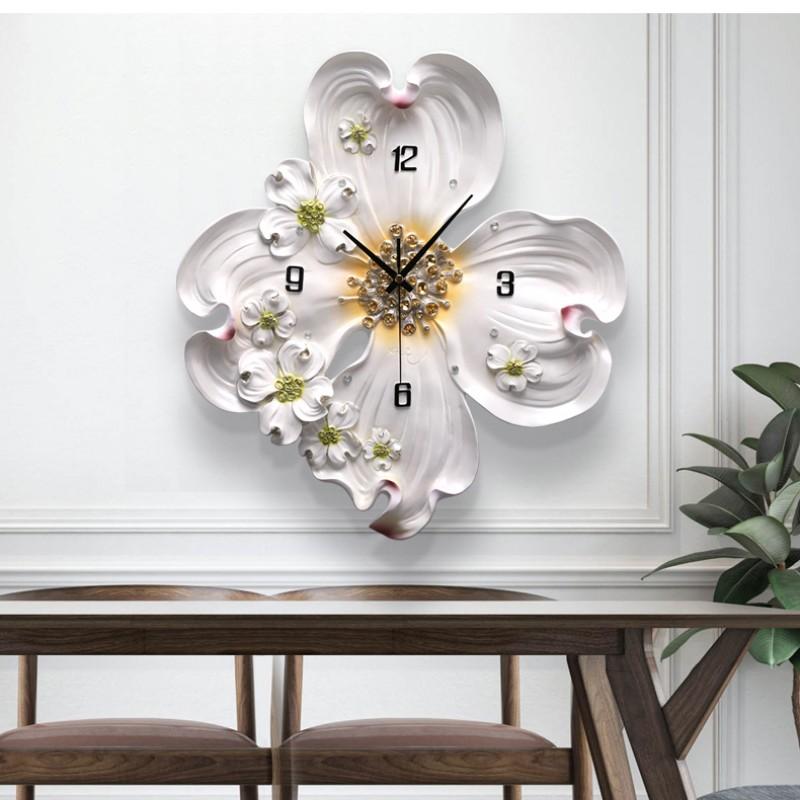 Đồng hồ hoa mẫu đơn nổi 3D