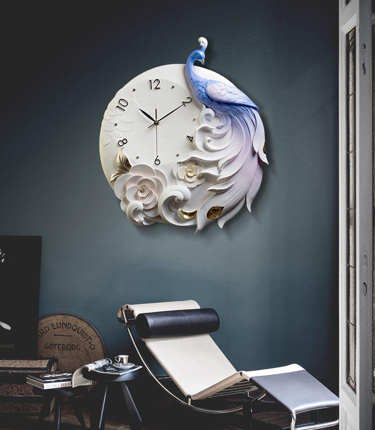 Đồng hồ 3D chim công