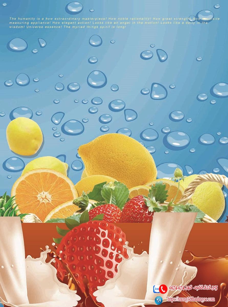 Tranh gạch  hoa quả 3D phòng bếp