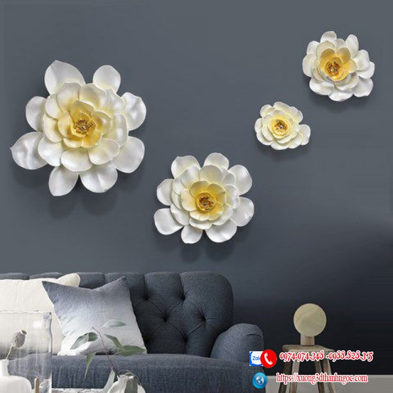 Bộ hoa treo tường 4 bông