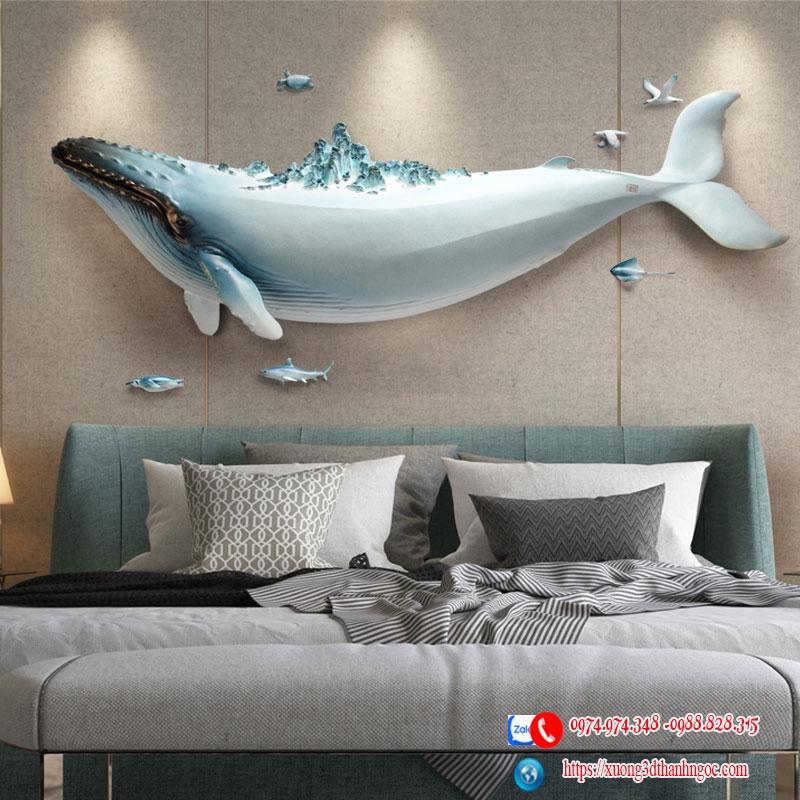 Cá voi 3D đại dương bộ 1 con