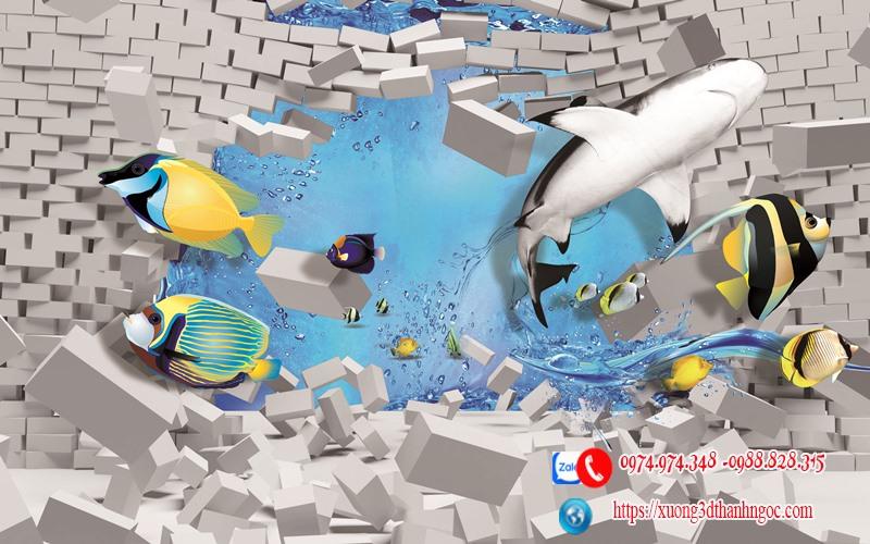 Tranh gạch hiệu ứng 3D 76