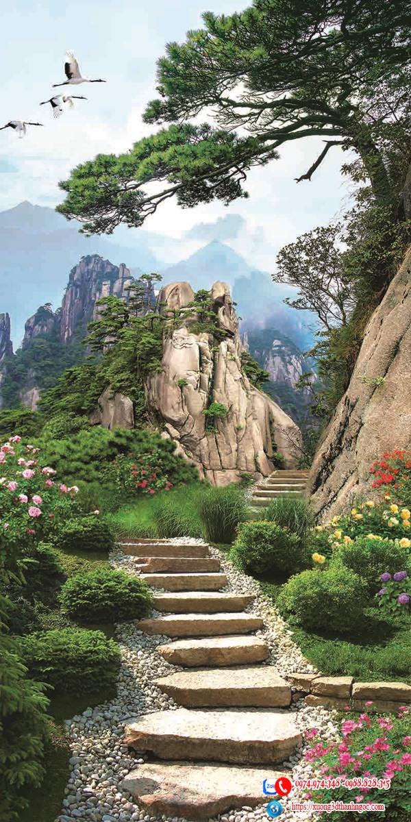 Tranh gạch phong cảnh núi non 61