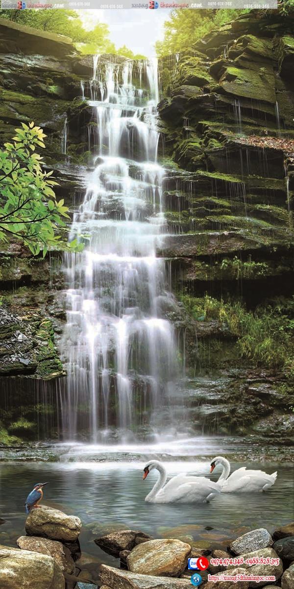 Tranh gạch 3d thác nước 671