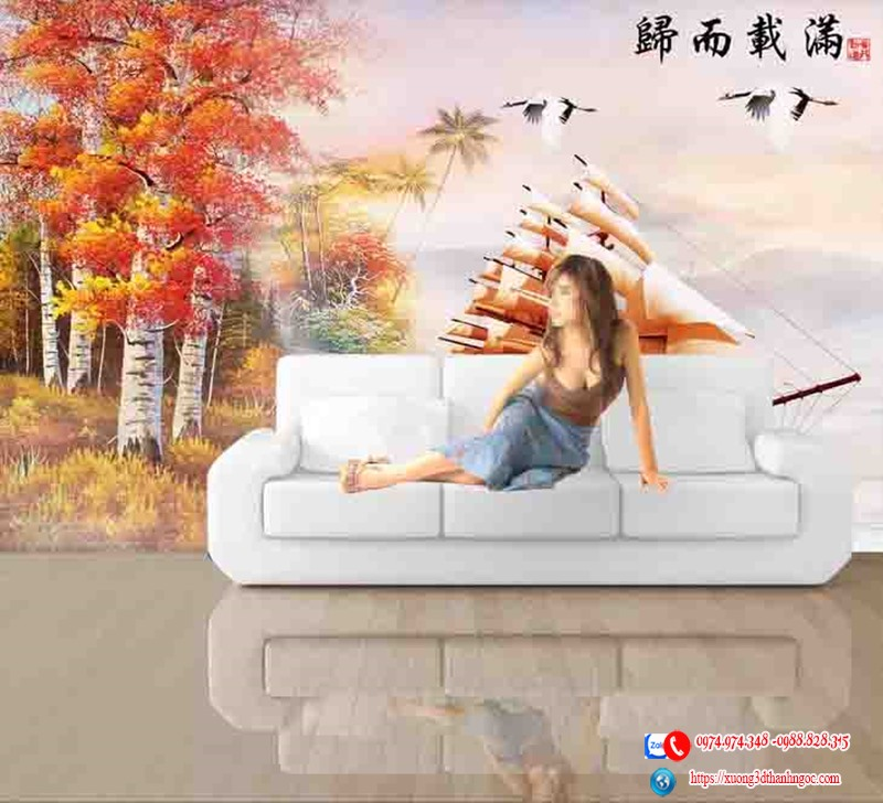 Tranh thuận buồm xuôi gió phòng khách 11