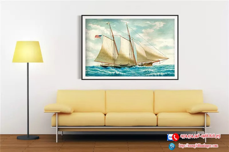 Tranh gạch 3d thuận buồm xuôi gió
