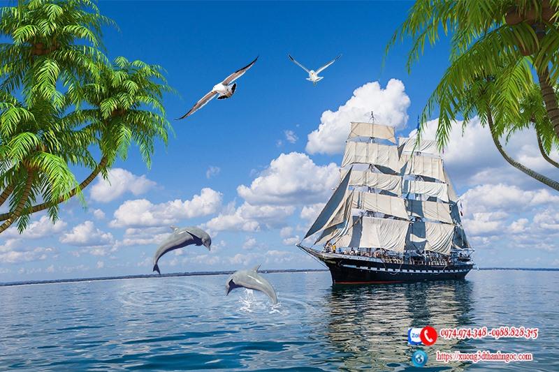 Tranh gạch 3d thuận buồm xuôi gió 46