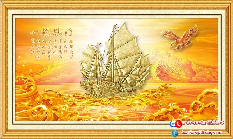 Tranh thuận buồm xuôi gió vàng 50