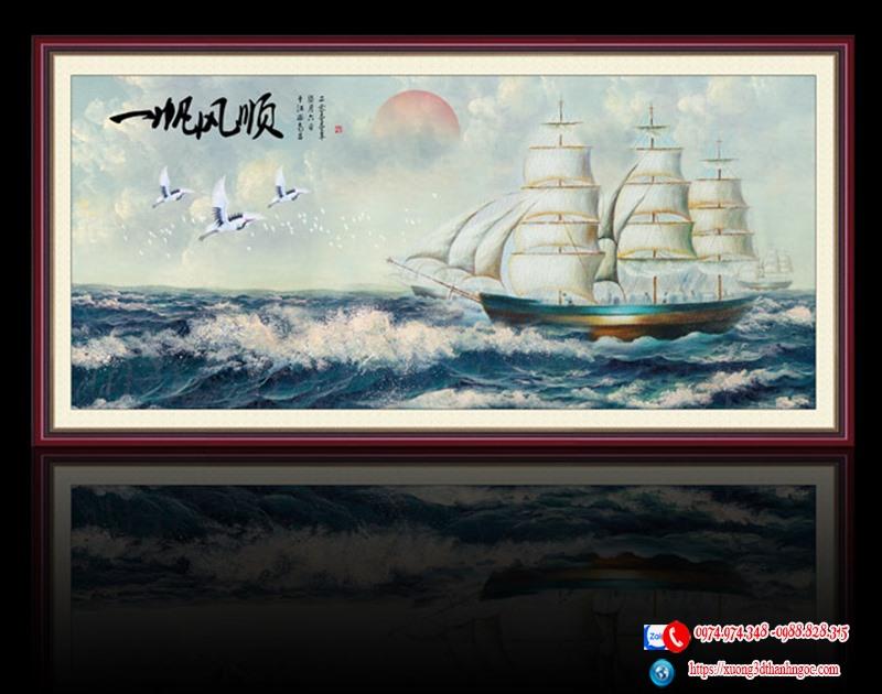Tranh 3d thuận buồm xuôi gió 9