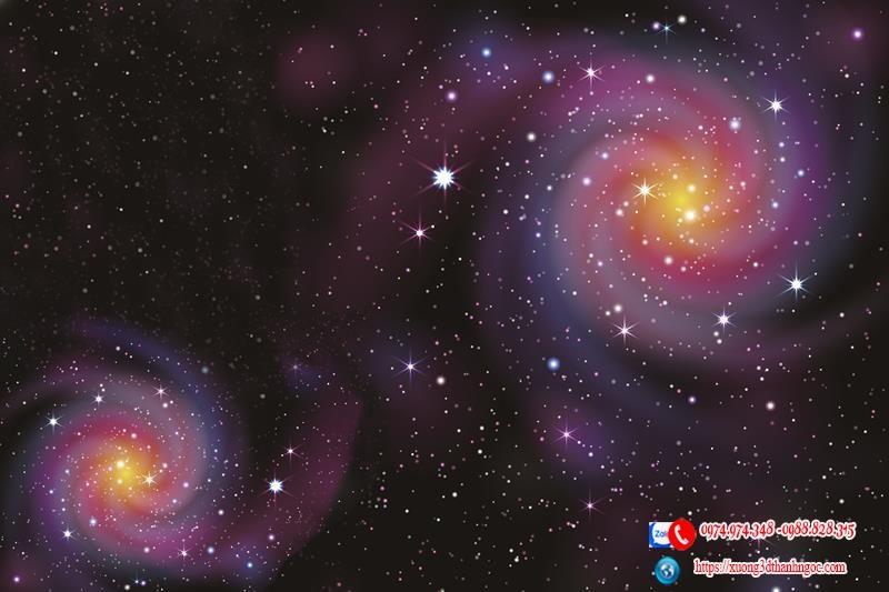 Trần 3d bầu trời galaxy