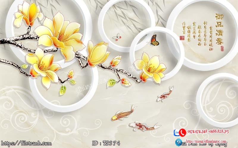 Tranh hoa trang sức 3d 374
