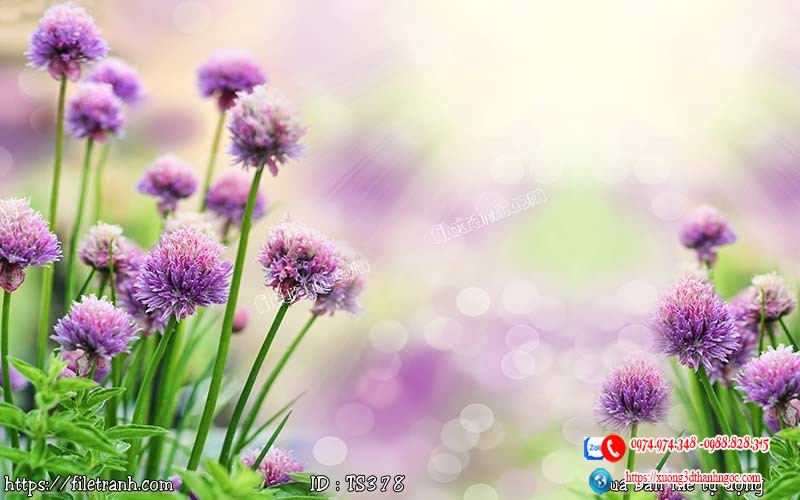 Tranh hoa trang sức 3d 378