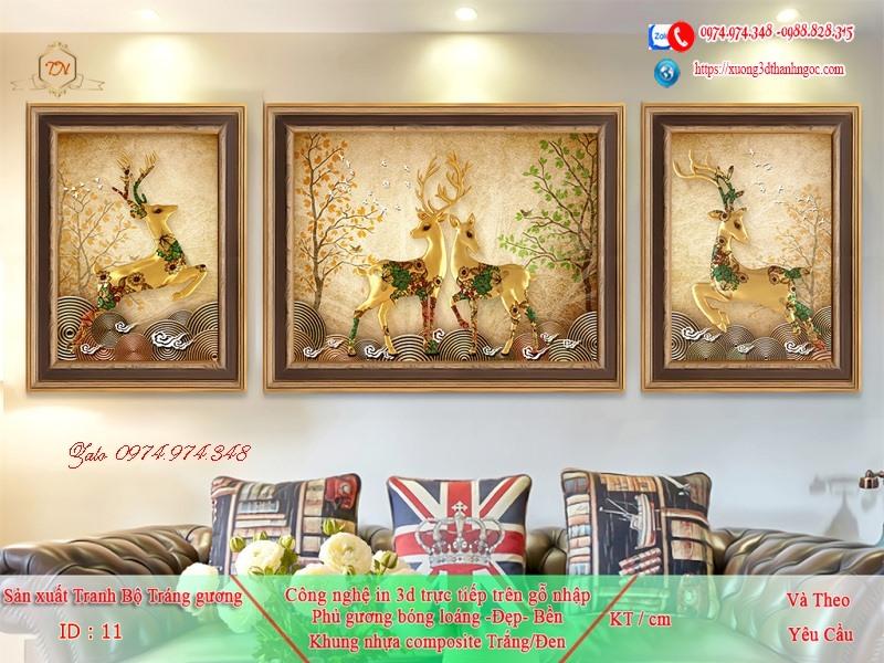 Tranh treo tường sau ghế sofa phong cách mỹ 11