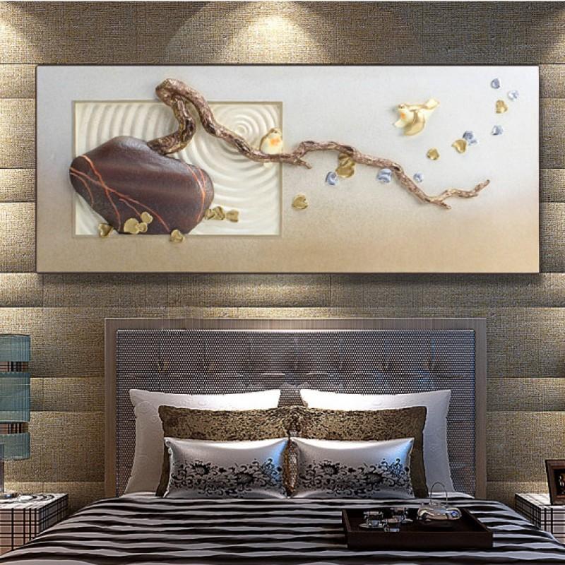 Tranh phòng khách bonsai Đại cát